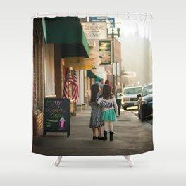 Girls on Main Street Shower Curtain