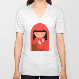 Red Riding Hood Unisex V-Neck