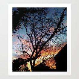 Houston Sunset Art Print