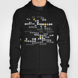 Dottywave - Grey and yellow wave dots pattern Hoody