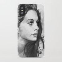 minimalist iPhone & iPod Cases featuring Anne Hathaway minimalist illustration by Thubakabra