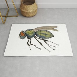 bummed out fly Rug