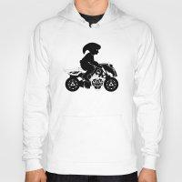 mario kart Hoodies featuring Mario Kart 8 - Master Cycle Silhouette by brit eddy