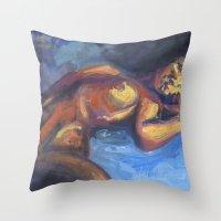 musa Throw Pillows featuring Musa RA1 by Ziuhtei Erdmann