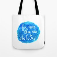 dumbledore Tote Bags featuring Our Choices - Dumbledore quote by PieTowel