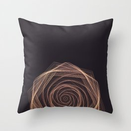 Geometric Rose Throw Pillow