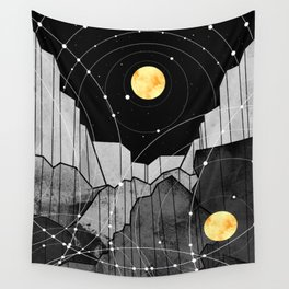 Astronomy mountains Wall Tapestry