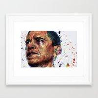obama Framed Art Prints featuring OBAMA by benjamin james