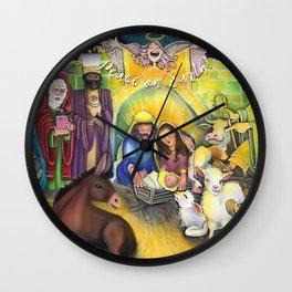 Peace on Earth Nativity Wall Clock