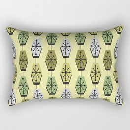 Mid Century Modern Hexagons Chartreuse Rectangular Pillow