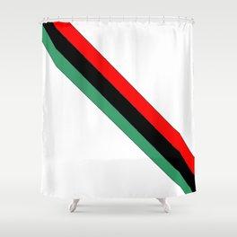 flag of libya 2-Libyan,Tripoli,benghazi,misurata,bayda,cyrenaica Shower Curtain