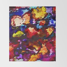 Flower Market Abstract Throw Blanket