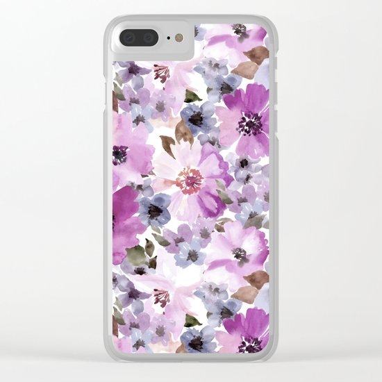 FLOWERS WATERCOLOR 15 Clear iPhone Case