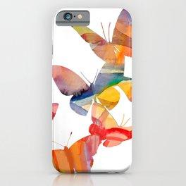 Orange Butterflies iPhone Case