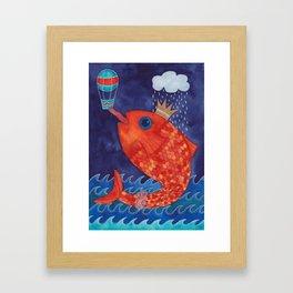 Something's Fishy Framed Art Print