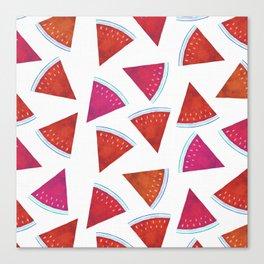 Summer Watermelon Pattern Canvas Print