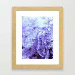 Bluegrey Wipeout Framed Art Print
