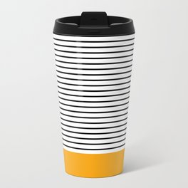 Line Edition Yellow Metal Travel Mug