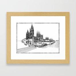 Catedral de Burgos Framed Art Print