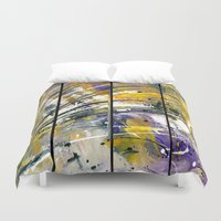 kandinsky Duvet Covers featuring Abstract 26 by Har8