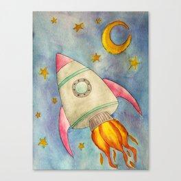 Space Flight Canvas Print
