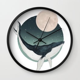 by the light of the moon Wall Clock