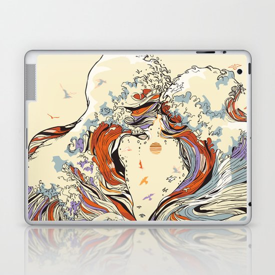 The Wave of Love Laptop & iPad Skin