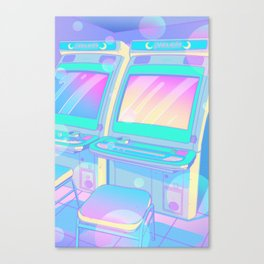 Pastel Glitch Canvas Print