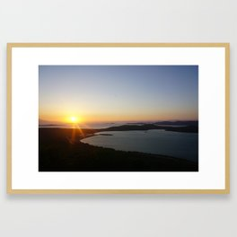 End of a day Framed Art Print