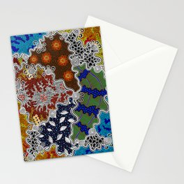 Authentic Aboriginal Art - The Seasons Stationery Cards
