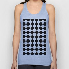 Contemporary Black & White Gingham Pattern - Mix and Match Unisex Tank Top