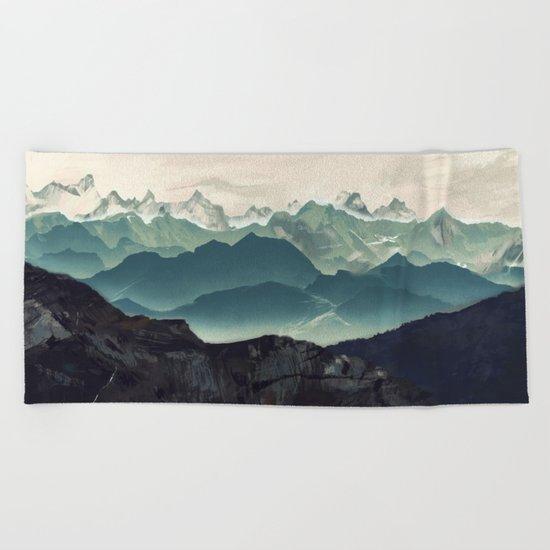 Shades of Mountain Beach Towel