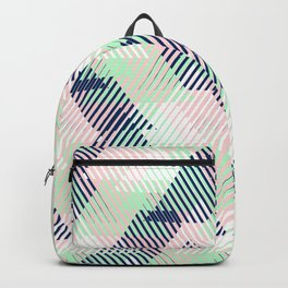 Geometric pattern in pastel mint, pink, blue colors Backpack