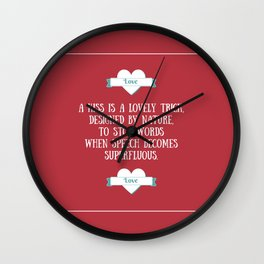 Saint Valentine's dedication Wall Clock