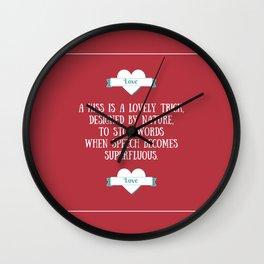 Saint Valentine's dedication Wall Clock