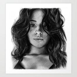 Camila Cabello Drawing Art Print