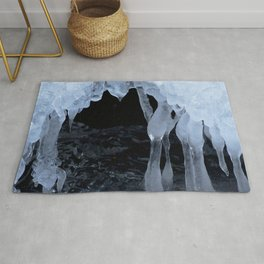 Watercolor Ice 54, Icy Cave of the Dancing Ladies Rug