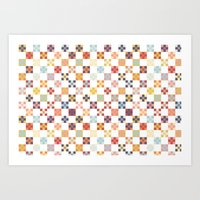 quilt Art Prints featuring Quilt by Anh-Valérie