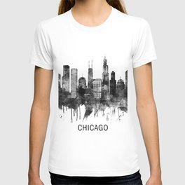 Chicago Illinois Skyline BW T-shirt
