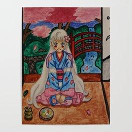 Dafu in a Kimono Poster