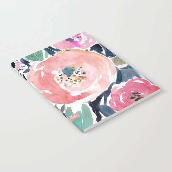 Gardens of Capitola Watercolor Floral Notebook