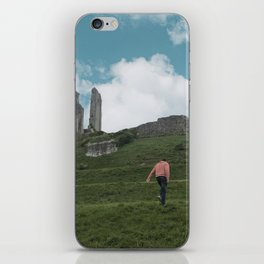 Corfe Castle and the Sky medieval iPhone Skin