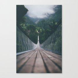 Crossing bridges. Canvas Print