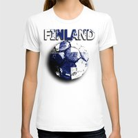 finland T-shirts featuring Old football (Finland) by seb mcnulty