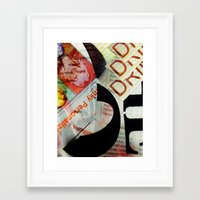 newspaper Framed Art Prints featuring Abstract Newspaper by bmp528