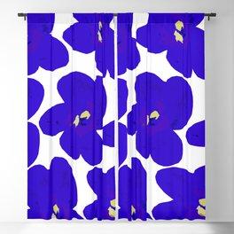 Blue Retro Flowers #decor #society6 #buyart Blackout Curtain