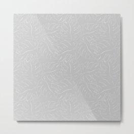 Grey Cheese Plant Leaves Metal Print