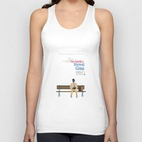 movie poster Tank Tops featuring Forrest Gimp Movie Poster by Ian O'Hanlon