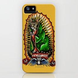Cat Guadalupano iPhone Case