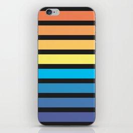 Stripe Sunset iPhone Skin